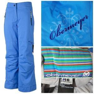 Pants - obermeyer blue brooke ski snow pants juniors 16